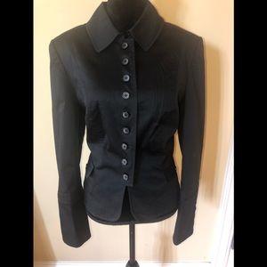 Kenar black cotton button up blazer shirt siZe 14